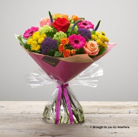 Happy Birthday Kaleidoscope Burst Hand tied